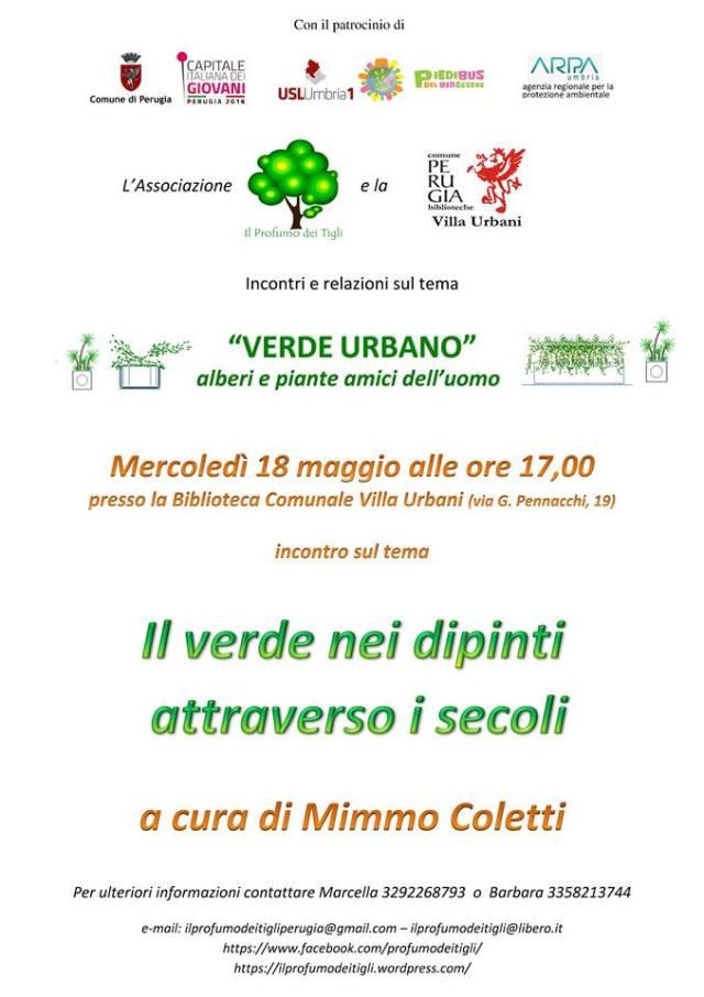 il verde nei dipinti Mimmo Coletti